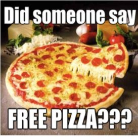 Free pizza for Uni and TAFE students!